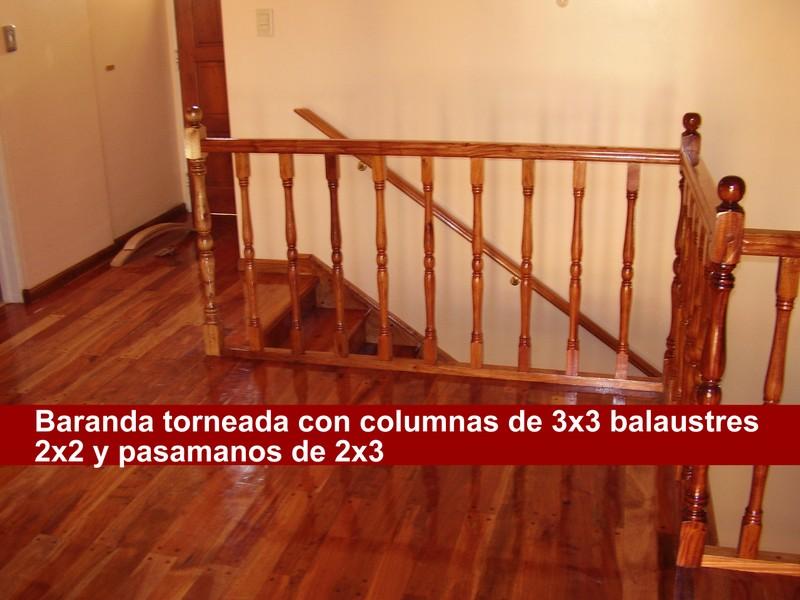 Escaleras y barandas pisos d ercole for Altura pasamanos escalera